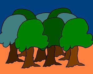 Wald #2 farb - Wald, Baum, Bäume