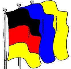 Fahnen #2 - Fahnen, Nomen, Mehrzahl, Plural, Lautbildung, Anlaut F, drei, Flagge, Flaggen