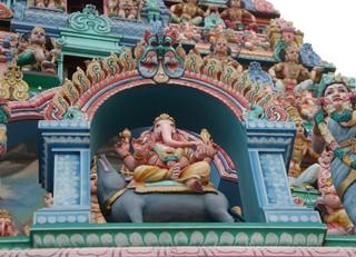 Ganesh_Hindutempel#2 - Weltreligionen, Südostasien, Hinduismus, Hindus, Ganesh, Tempel, Singapur, Sri Mariamman, Sehenswürdigkeit, Statuen, Gottheiten