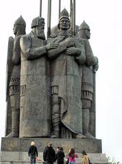A. Newski-Monument - Monument, Denkmal, Russland, Landeskunde, A.Newski, Krieger, Helden, Pskow