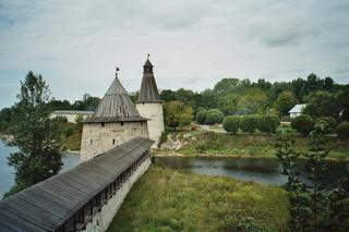 Pskow-Kreml#1 - Kreml, Pskow, Russland, Landeskunde, Architektur, Mittelalter, Stadtmauer, Verteidigungsanlage, Wahrzeichen, Bauweise