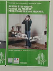 affiche grippe#1 - Frankreich, civilisation, Grippe, Maske, Hygiene, Krankheiten, masque, virus, Schutz, potection, Infektion, maladie, hygiène