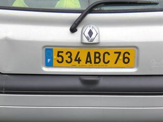 Autokennzeichen alt - Frankreich, civilisation, Autokennzeichen, plaque d'immatriculation, Auto, voiture, Schilder, département