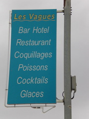 Les vagues - Frankreich, civilisation, hotel, restaurant, Schild, panneau