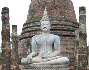 Buddha-Statue#1 - Ethik, Weltreligionen, Buddhismus, Buddha, Südostasien, Thailand, Königreich Sukhothai