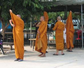 buddhistische Mönche - Ethik, Weltreligionen, Buddhismus, Mönch, Thailand, Südostasien