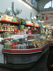 Theke - Saratow, Russland, Einkaufen, Markthalle, Landeskunde, Auslagen, Verkaufen