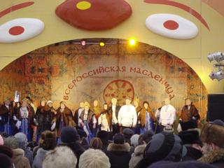 Masleniza in Pskow - Masleniza, Butterfest, Russland, Landeskunde, Pskow, Traditionen, Brauchtum, Fest, Feiern, Bliny, Gesprächsanlass