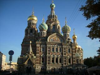 Erlöserkirche - Kirche, Russland, Sankt Petersburg, Zwiebeltürme, Gold, Turm, Landeskunde, Sehenswürdigkeit