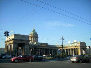 Kathedrale zu Kasan - Newski-Prospekt, Sankt Petersburg, Sehenswürdigkeit, Kathedrale, halbrund, Russland, Landeskunde