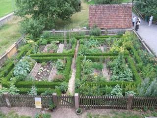 Bauerngarten - Schwarzwald, Vogtsbauernhof, Bauernhof, Landwirtschaft, Gutach, Garten, Bauerngarten, Beete, Gemüsebeete, Abrgenzung, Gemüse, Gemüseanbau