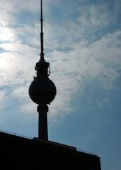 Berlin - Silhouette Fernsehturm - Berlin, Silhouette, Fernsehturm, Hauptstadt