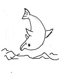 Delfin 2 - Tier, Meer, Säugetier, Delfin, Delphin, springen, Anlaut D