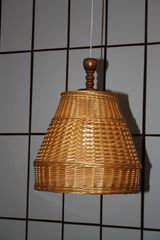 Korblampenschirm - Korb, Lampenschirm, Licht, Leuchte, Geflecht
