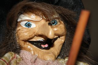 Hexengesicht - Hexe, Gesicht, Bildnis, Auge, Nase Mund, Märchen