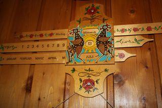 Schiebekalender - Kalender, Folklore, schieben, Datum, Tag, Monat, Übersicht, Jahr, ewiger Kalender