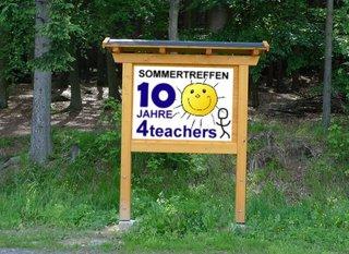 Hinweisschild - Schild, Hinweisschild, Sommertreffen 2011, Jubiläumstreffen
