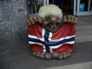 Troll - Troll, Oslo, Norwegen, Flagge, Mythen, Geister, unheimliche Wesen, Trolle, fröhlich, lustig, lachen, Fahne
