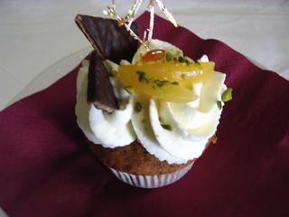 Cupcake#1 - Cupcake, fairy cake, Törtchen, Guss, Creme, Früchte