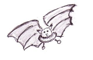 Fledermaus - Natur, Tiere, fliegen, Säugetier, Nacht, gruselig, Fledermaus, flattern, Anlaut F, Schreibanlass, Hautflügel