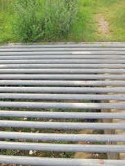 Viehgitter - Gitter, Viehgitter, Schutz, Zaun, Rohre, Röhren, Abstand, Zwischenraum, weglaufen, Flucht