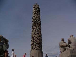 Vigelandpark Oslo - Oslo, Park, Vigelandpark, Steinfiguren, nackte Körper, Kunst, Säule, Figur, Plastik, Skulptur