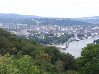 Deutsches Eck - Deutsches Eck, Koblenz, Rhein, Mosel, Festung, Fluss, Geschichte