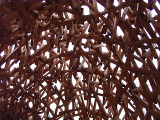 Echolot-Pavillon #2 - Echolot-Pavillon, Echolot, Fledermaus, Holzkonstruktion