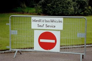 Französische Schilder (7) - Schild, interdit, véhicules