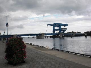 Wolgast Pennebrücke#1 - Wolgast, Brücke, Peene, Usedom, Peenestrom, Klappbrücke, Waagebalken, Gegengewicht, Hebel, Physik