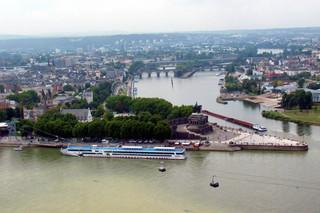 Ansichten von Koblenz - Deutsches Eck #1 - Koblenz, Deutschland, Mosel, Rhein