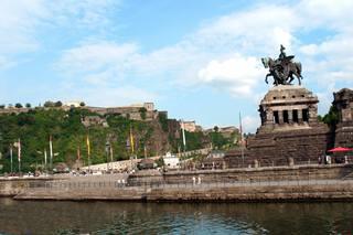 Ansichten von Koblenz - Deutsches Eck #3 - Koblenz, Deutschland, Mosel, Rhein