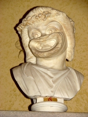 Antike Schauspieler-Maske - Schauspielermaske, Theater, Schauspiel, Maske, Antike, Komödiant, Komik, komisch, Grimasse, Büste
