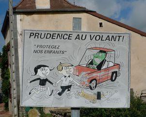 Hinweisschild: Vorsicht Kinder - panneau, attention aux enfants, prudence