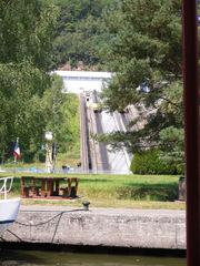 Schiffshebewerk St-Louis-Arzviller #3 - Schiffshebewerk, plan incliné, Frankreich, Elsass, Arzviller, schräg, Rhein-Marne-Kanal, schiefe Ebene