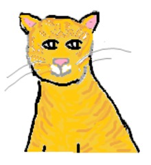 Katze#1_getigert - Katze, Haustier, rot, getigert, bunt, Wörter mit tz