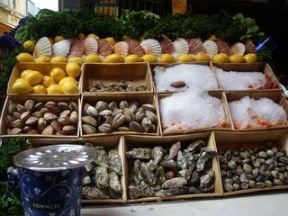 Muscheln - Muscheln, Krebse, Zitronen, Eis, Haltbarmachung, Essen, lecker, Meeresfrüchte