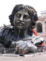 Kulisse für Tosca - Oper, Opernfestspiele, Italien, Verona, Arena, Tosca, Puccini, Amphitheater