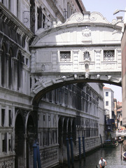Venedig Seufzerbrücke#2 - Italien, Venedig, Venezia, Brücken, Seufzerbrücke, Ponte dei Sospiri, Kanal, Gondeln