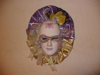 Masken 2 - Kunst, Maske, Venezianische Maske, Bemalung, Stoff, Tuch, Schleifen, Pailletten, Perlen, Karneval, Verkleidung, Ornamente, Dekoration, Schmuck, Wandschmuck, venezianisch, Venedig, Fasching