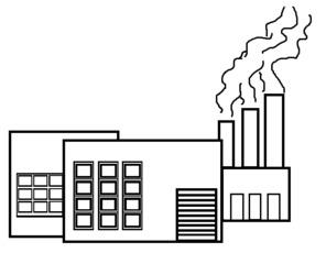 Fabrik - Gebäude, Fabrik, Halle, Industrie, Umweltschutz, Abgase, Chemie, Produktionsstätte