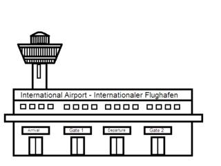 Flughafen - Gebäude, Flughafen, Airport, Urlaub, Reisen
