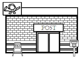 Postamt - Gebäude, Stadt, Post, Postamt, Briefe