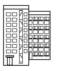 Hochhaus - Gebäude, Hochhaus, Wohnhaus, Stockwerk, Etage, Fenster, Tür, wohnen
