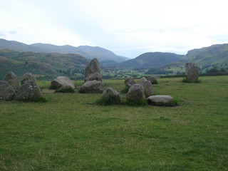 Castlerigg Stone Circle Lake District - Lake District, Steinkreis, prähistorisch, Bronzezeit, Steinring, Steintanz, Menhiren, Findling