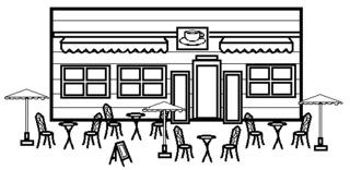 Café - Gebäude, Stadt, Café, Geschäft, Kaffeehaus