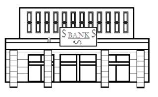 Bank - Gebäude, Stadt, Bank, Sparkasse, Geldinstitut, Kreditinstitut