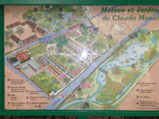Giverny Maison et Jardins Claude Monet - Frankreich, civilisation, Giverny, Claude Monet, Park, Garten, Maler, peintre, jardin, panneau, Schild