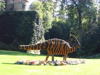 Kürbisdeko Dinos#6 - Kürbis, Dekoration, Dino