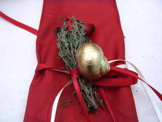 Tischdekoration *Dornröschen*#4 - Tischdekoration, Märchen, märchenhaft, gold, Serviette